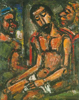 Georges Rouault,  Christ Mocked by Soldiers Fine Art Reproduction Oil Painting