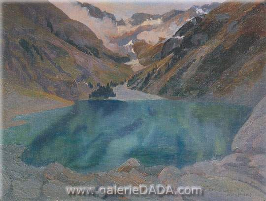 Carlos Shwabe,  Le Lac Lovital Fine Art Reproduction Oil Painting