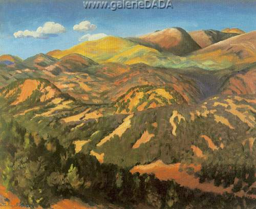 John Sloan,  Culebra Range Early Autumn Fine Art Reproduction Oil Painting