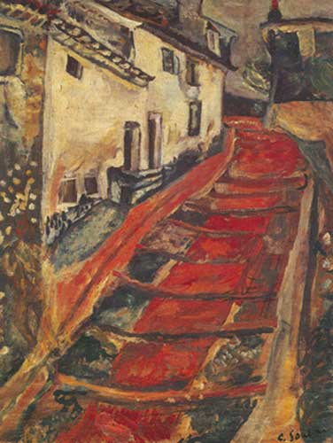 Chaim Soutine,  Red Stairway at Cagnes Fine Art Reproduction Oil Painting