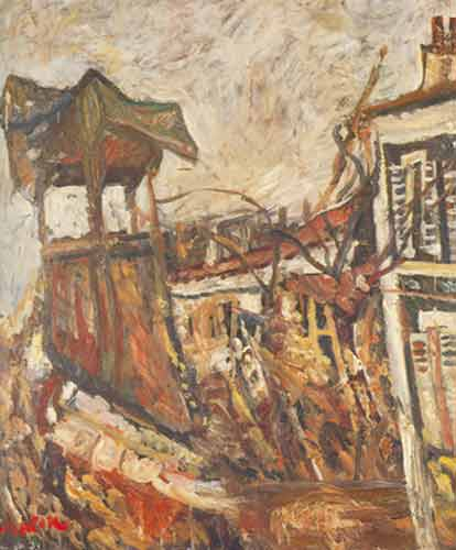 Chaim Soutine,  Parisian Suburb Fine Art Reproduction Oil Painting