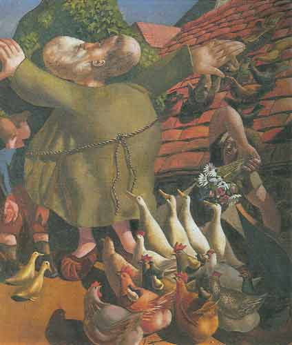 Stanley Spencer,  St Francis and the Birds Fine Art Reproduction Oil Painting