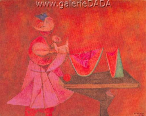 Rufino Tamayo,  Watermelon Eater Fine Art Reproduction Oil Painting