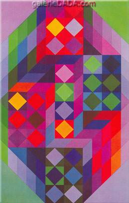 Victor Vasarely,  Tridum R-R Fine Art Reproduction Oil Painting