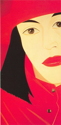 Alex Katz, Red Coat Fine Art Reproduction Oil Painting