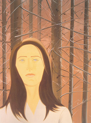 Alex Katz, Woman in Woods Fine Art Reproduction Oil Painting