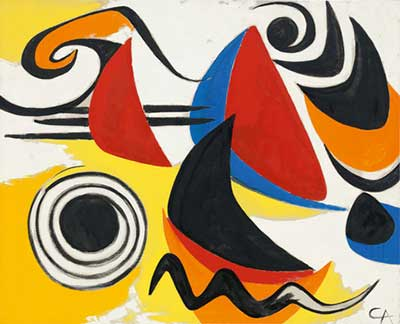 Alexander Calder, Boomerangs and Snakes  Fine Art Reproduction Oil Painting