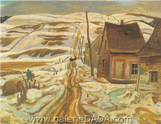 Alexander Y. Jackson, A Quebec Farm Fine Art Reproduction Oil Painting