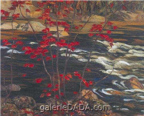 Alexander Y. Jackson, The Red Maple Fine Art Reproduction Oil Painting