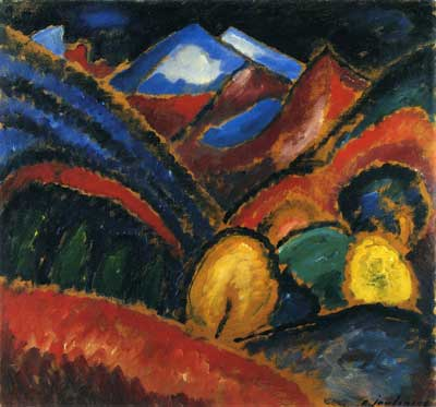 Alexei von Jawlensky, Landscape near Oberstdorf - Autumn Fine Art Reproduction Oil Painting