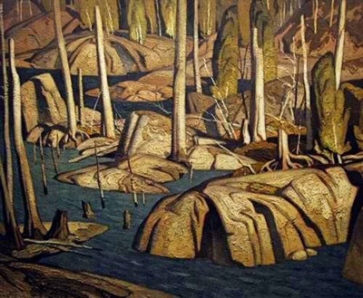 Alfred J. Casson, Backwater Fine Art Reproduction Oil Painting