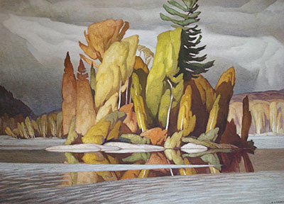 Alfred J. Casson, Little Island Fine Art Reproduction Oil Painting