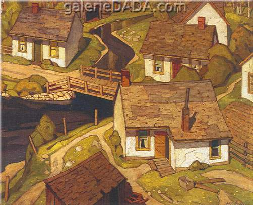 Alfred J. Casson, Mill Houses Fine Art Reproduction Oil Painting