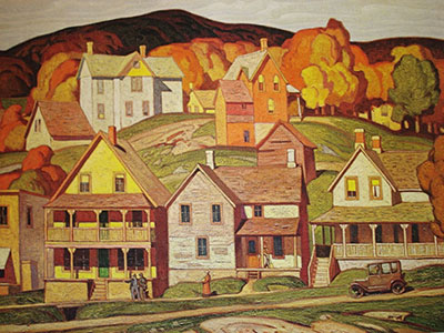 Alfred J. Casson, Parry Sound Fine Art Reproduction Oil Painting