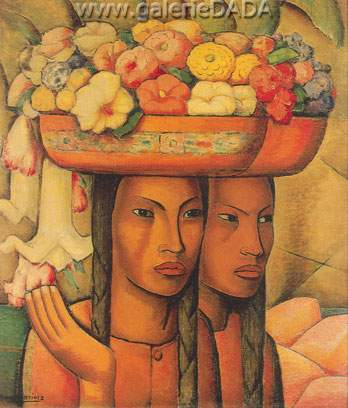 Alfredo Ramos Martinez, Flower Sellers Fine Art Reproduction Oil Painting