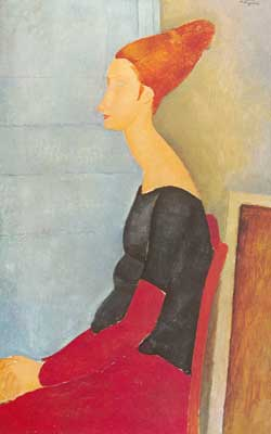 Amedeo Modigliani, Jeanne Hebuterne in Profile Fine Art Reproduction Oil Painting