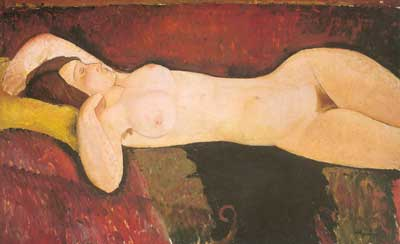Amedeo Modigliani, Reclining Nude Fine Art Reproduction Oil Painting