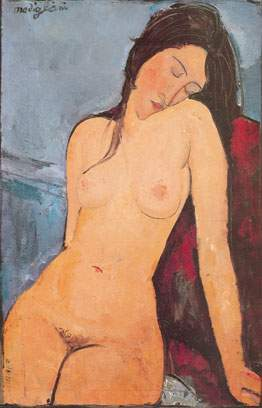 Amedeo Modigliani, Seated Nude Fine Art Reproduction Oil Painting