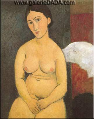 Amedeo Modigliani, Seated Nude (2) Fine Art Reproduction Oil Painting