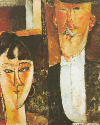 Amedeo Modigliani, The Bride and Groom Fine Art Reproduction Oil Painting