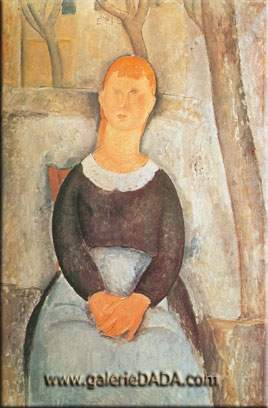 Amedeo Modigliani, The Little Peasant Fine Art Reproduction Oil Painting