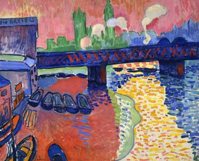 Andre Derain, Charing Cross Bridge Fine Art Reproduction Oil Painting