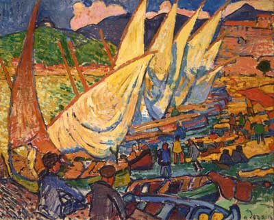 Andre Derain, Fishing Boats, Collioure Fine Art Reproduction Oil Painting