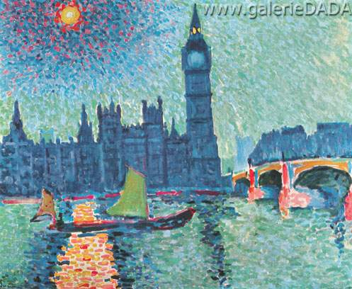Andre Derain, The Houses of Parliament Fine Art Reproduction Oil Painting