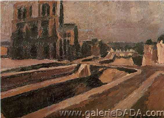 Andre Dunoyer de Segonzac, Notre-Dame de Paris Fine Art Reproduction Oil Painting