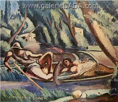 Andre Dunoyer de Segonzac, The Rowers Fine Art Reproduction Oil Painting