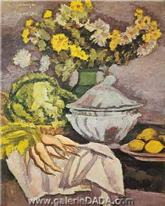Andre Dunoyer de Segonzac, The Soup Tureen of Moustiers Fine Art Reproduction Oil Painting