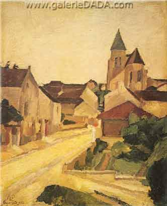 Andre Dunoyer de Segonzac, The Village Fine Art Reproduction Oil Painting