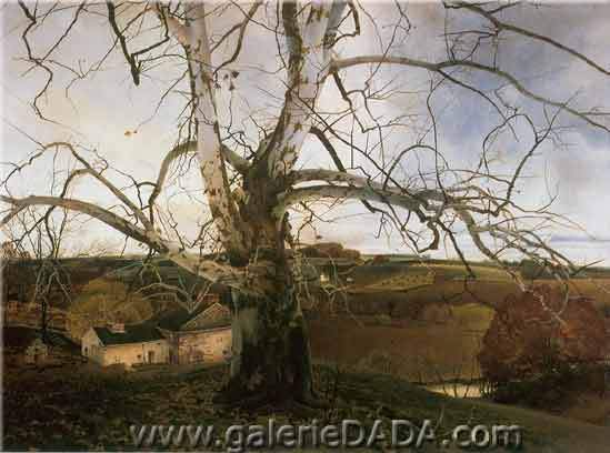 Andrew Wyeth, Pennsylvania Landscape Fine Art Reproduction Oil Painting