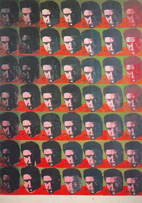 Andy Warhol, Elvis 49 Times Fine Art Reproduction Oil Painting