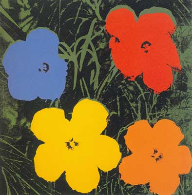 Andy Warhol, Flowers Fine Art Reproduction Oil Painting
