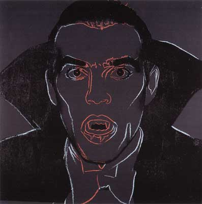 Andy Warhol, Myths (Dracula ) Fine Art Reproduction Oil Painting