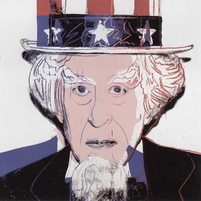 Andy Warhol, Myths (Uncle Sam ) Fine Art Reproduction Oil Painting