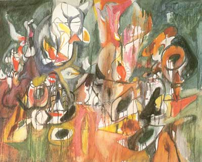 Arshile Gorky, One Year the Milkweed Fine Art Reproduction Oil Painting