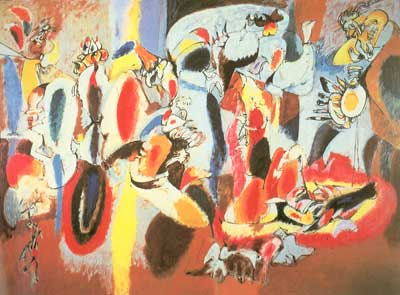 Arshile Gorky, The Liver is the Cock's Comb Fine Art Reproduction Oil Painting