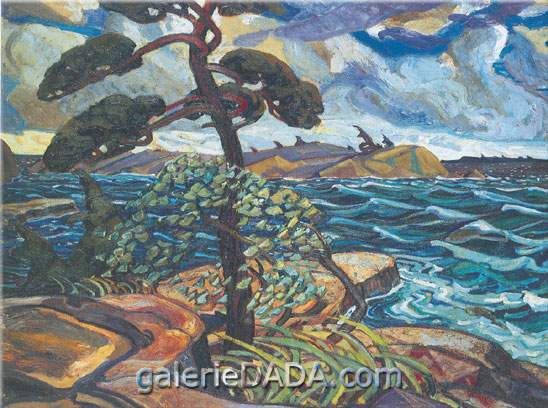 Arthur Lismer, A September Gale Georgian Bay Fine Art Reproduction Oil Painting