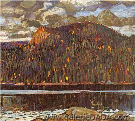 Arthur Lismer, Sombre Hill Algoma Fine Art Reproduction Oil Painting
