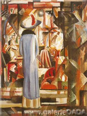 August Macke, Large Bright Shop Window Fine Art Reproduction Oil Painting