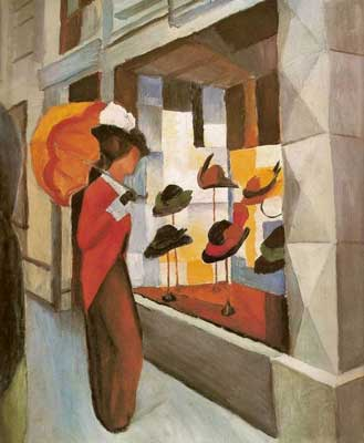 August Macke, Milliner's Fine Art Reproduction Oil Painting