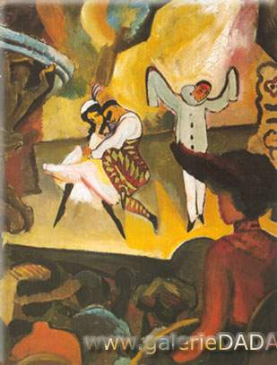 August Macke, Russian Ballet Fine Art Reproduction Oil Painting