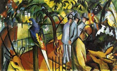 August Macke, Zoological Garden I Fine Art Reproduction Oil Painting