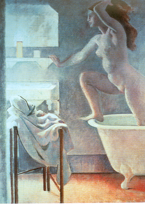 Balthasar Balthus, Getting Out of a Bath Fine Art Reproduction Oil Painting