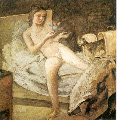 Balthasar Balthus, Getting Up Fine Art Reproduction Oil Painting