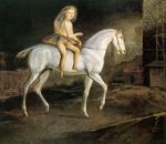 Balthasar Balthus, Girl on a White Horse Fine Art Reproduction Oil Painting