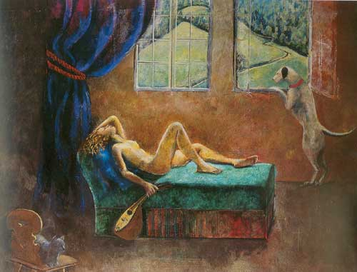 Balthasar Balthus, Girl with Mandolin Fine Art Reproduction Oil Painting