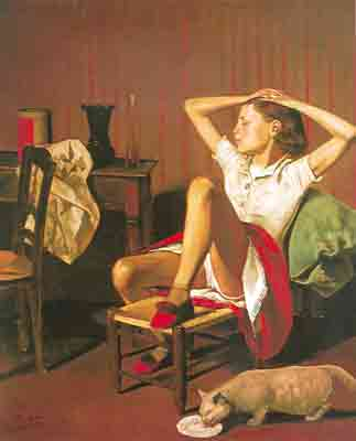 Balthasar Balthus, Terese Dreaming Fine Art Reproduction Oil Painting
